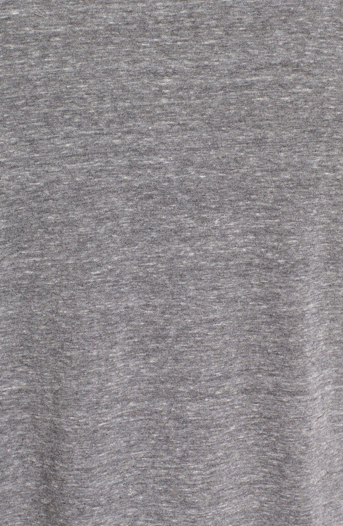 Triblend Scallop Crewneck T-Shirt,                             Alternate thumbnail 5, color,                             Heather Grey