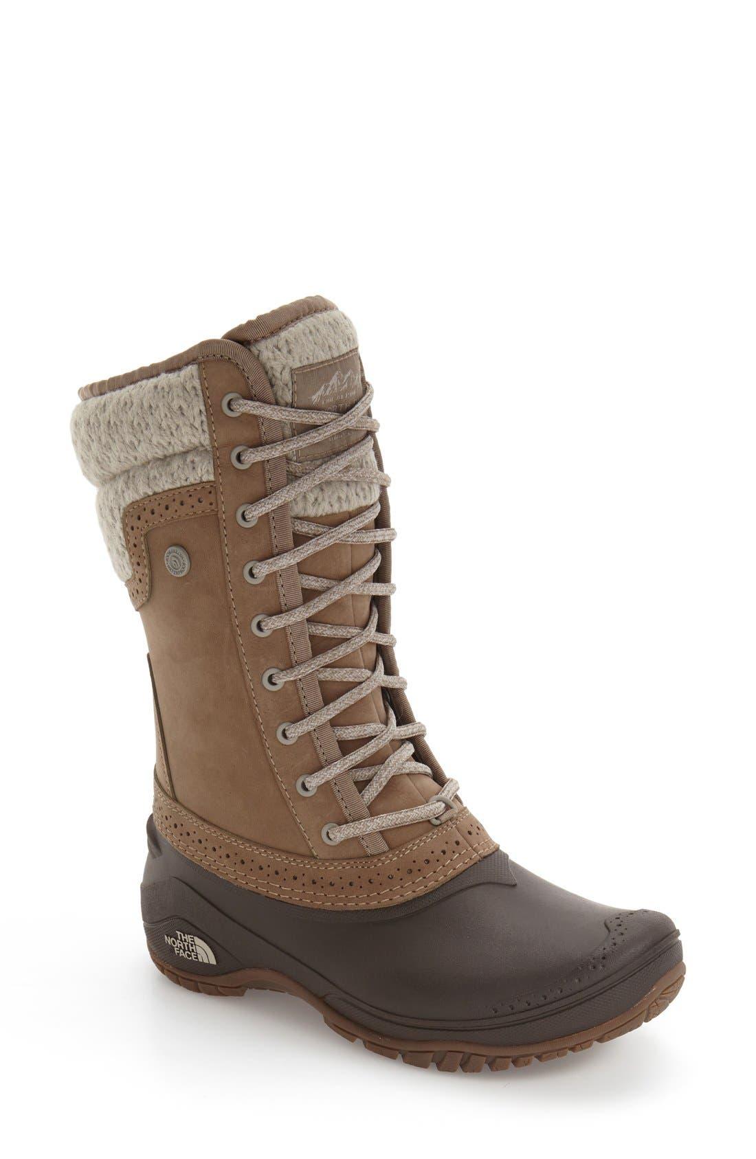 Shellista Waterproof Insulated Snow Boot,                         Main,                         color, Split Rock Brown/ Dove Grey