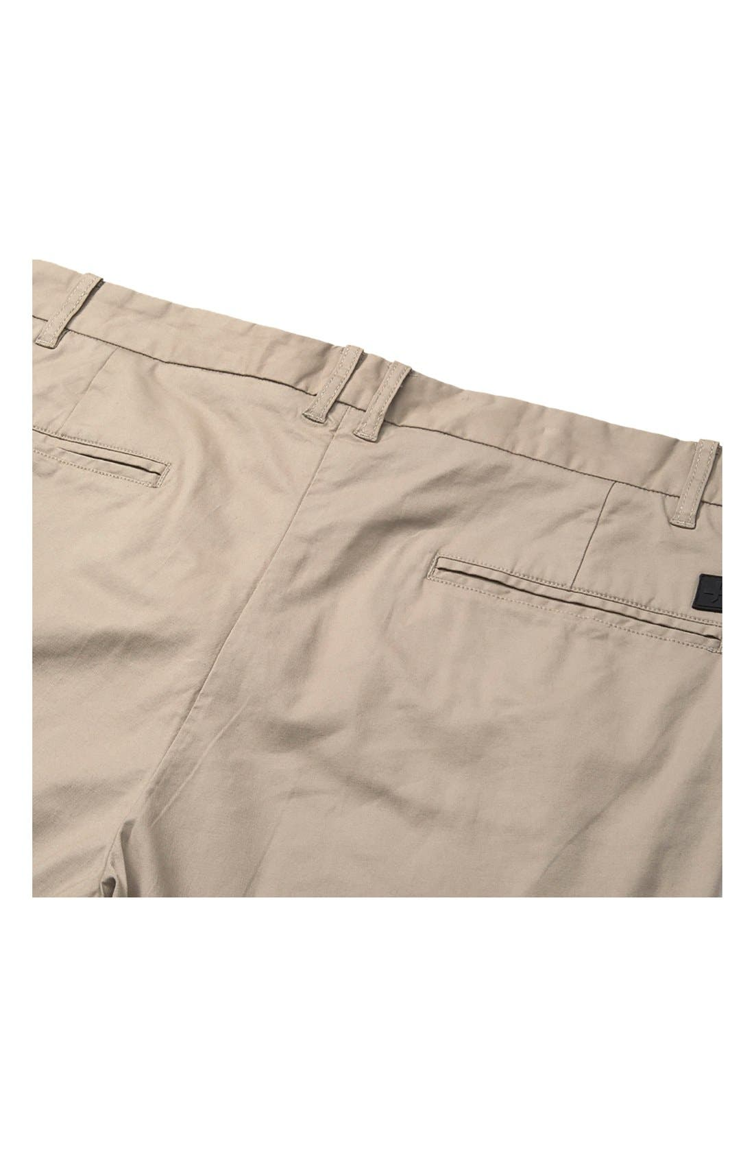 'Arroyo' Crop Stretch Chinos,                             Alternate thumbnail 4, color,                             Clay
