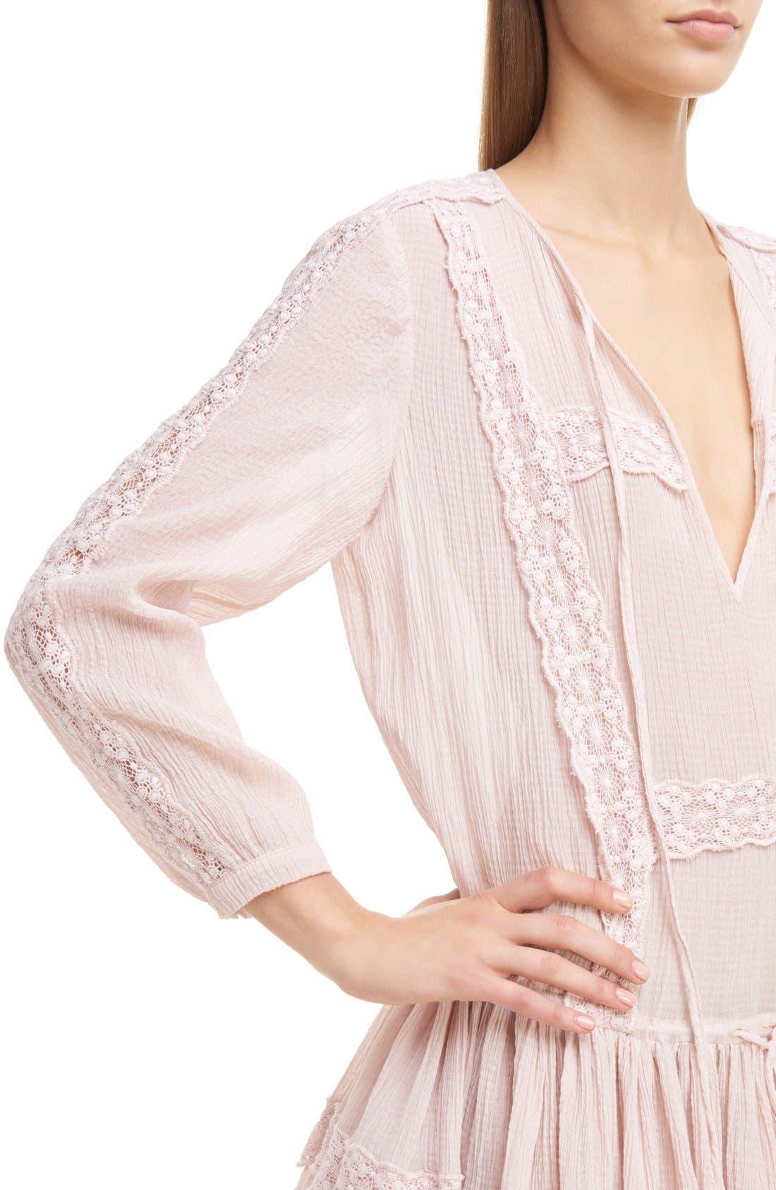 Alternate Image 6  - Givenchy Ruffle Crepon Peasant Dress