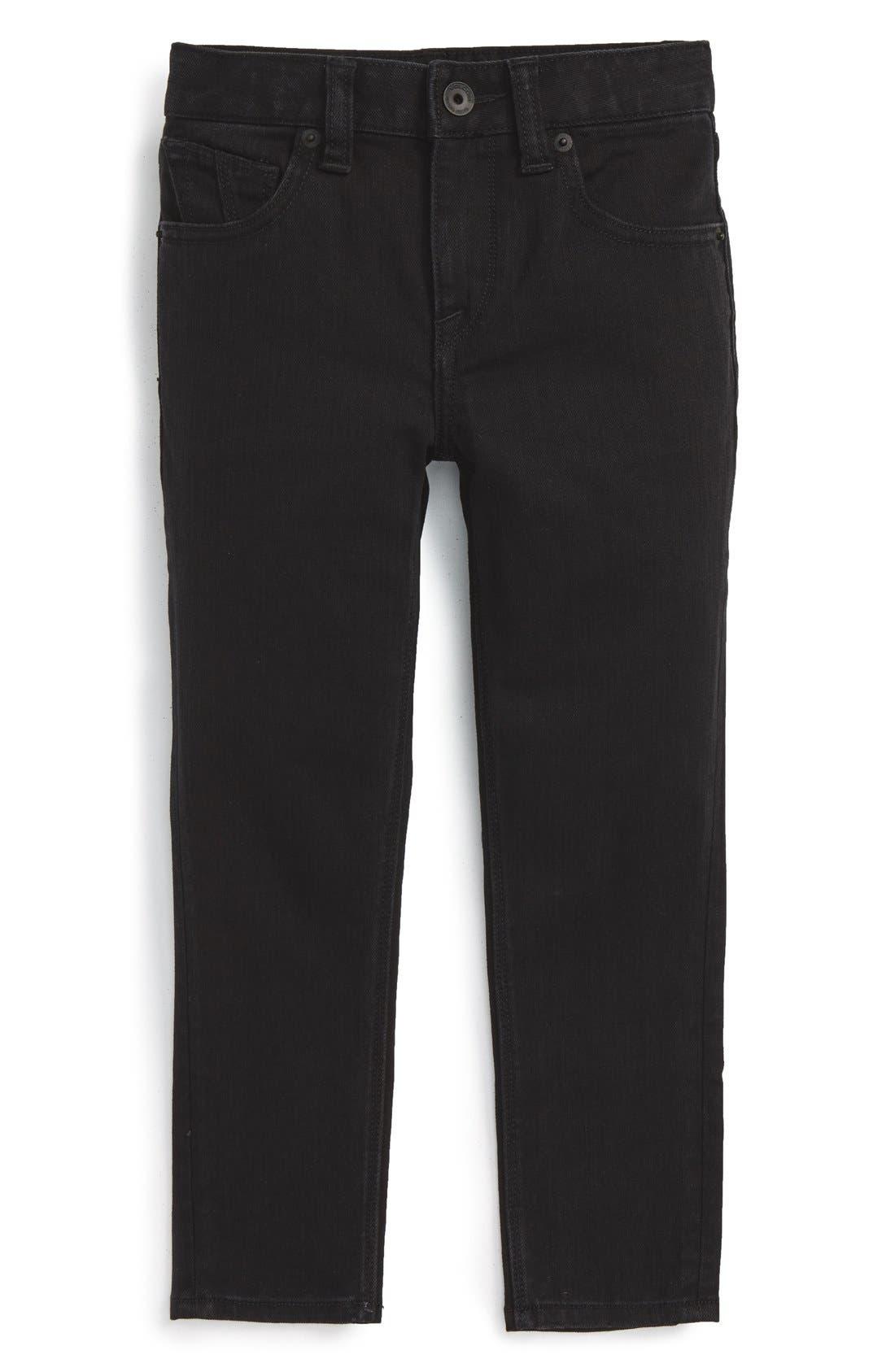 'Solver' Straight Leg Denim Jeans,                             Alternate thumbnail 5, color,                             New Black