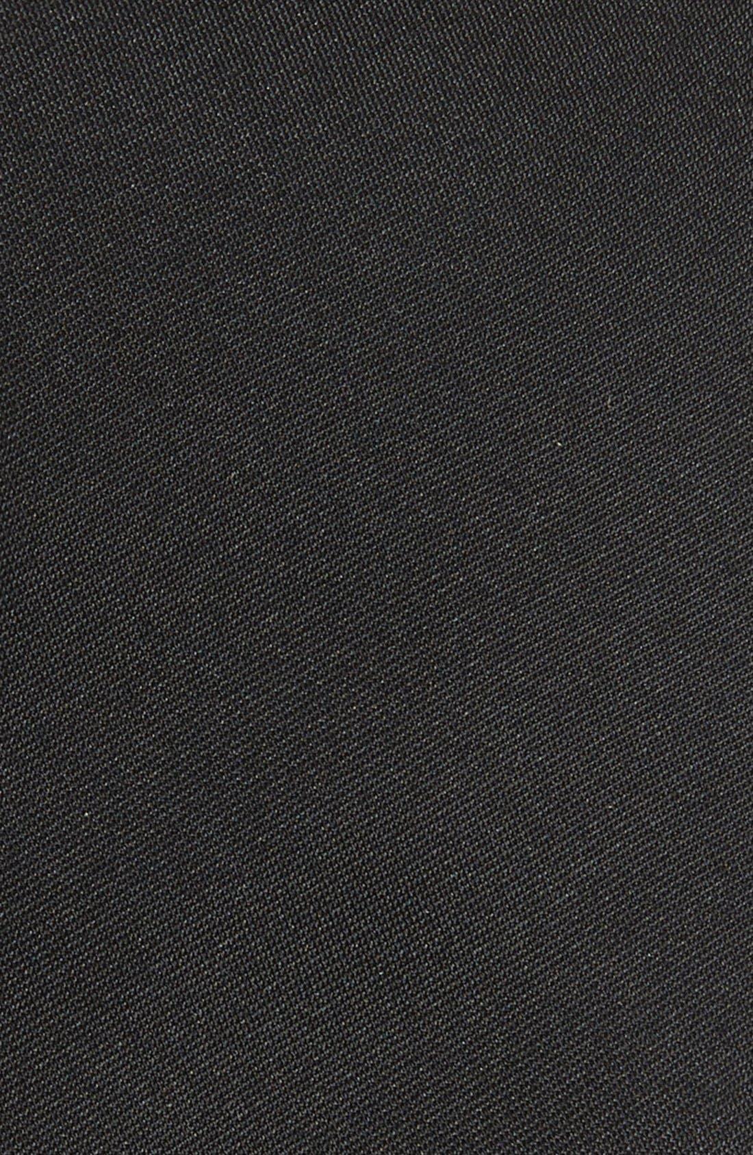 Veloutine Woven Silk Skinny Tie,                             Alternate thumbnail 2, color,                             Black