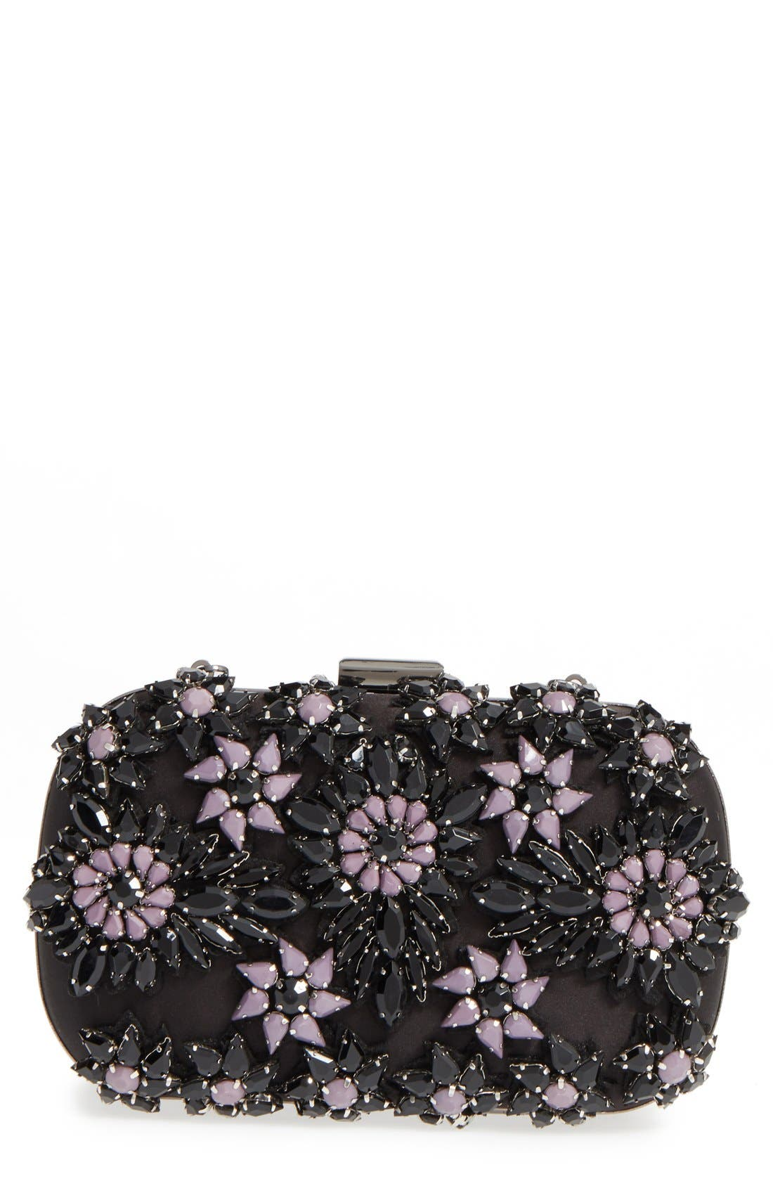 Alternate Image 1 Selected - Natasha Couture Crystal Floral Box Clutch