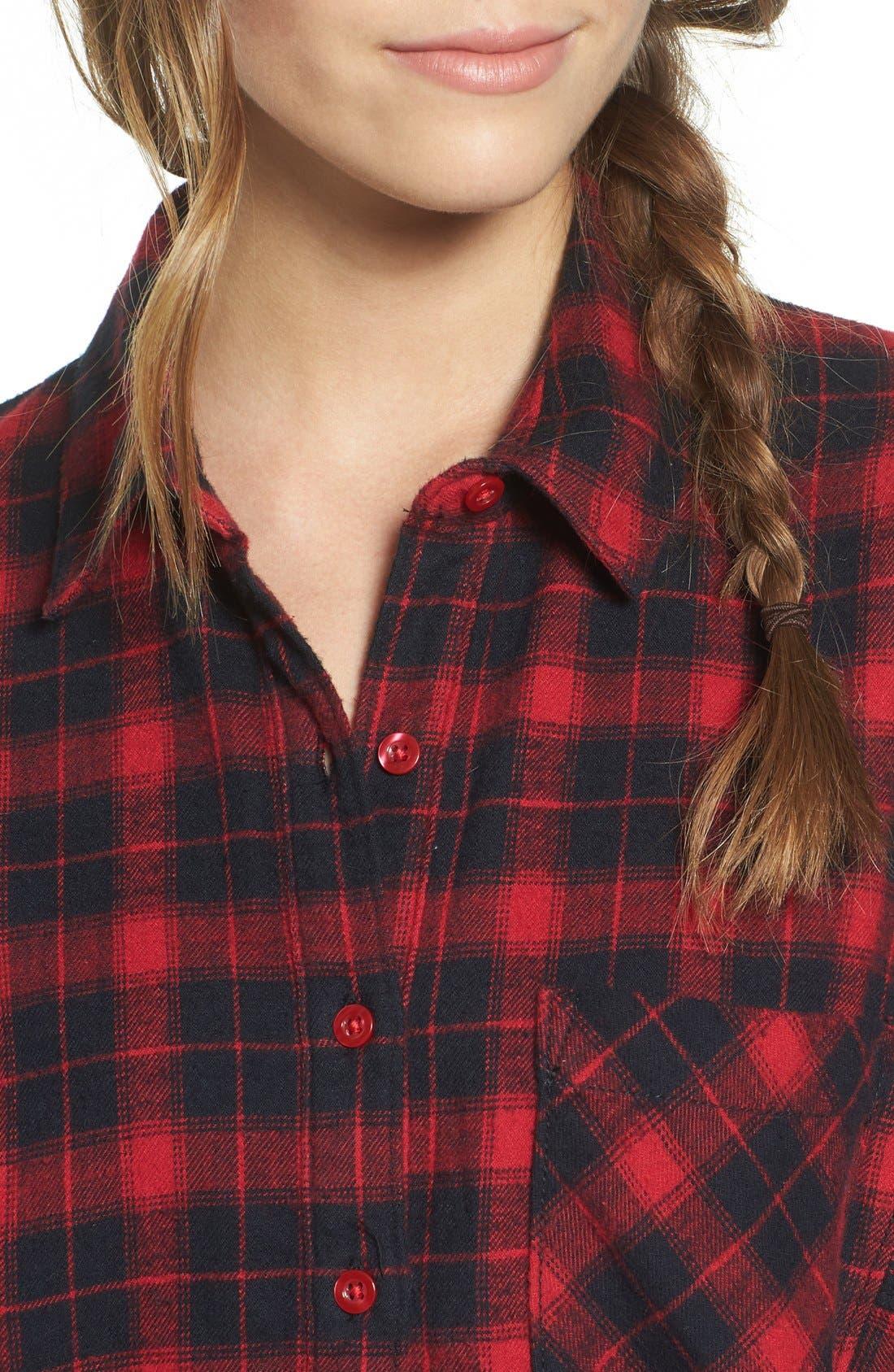 Alternate Image 4  - BP. Plaid Flannel Shirt