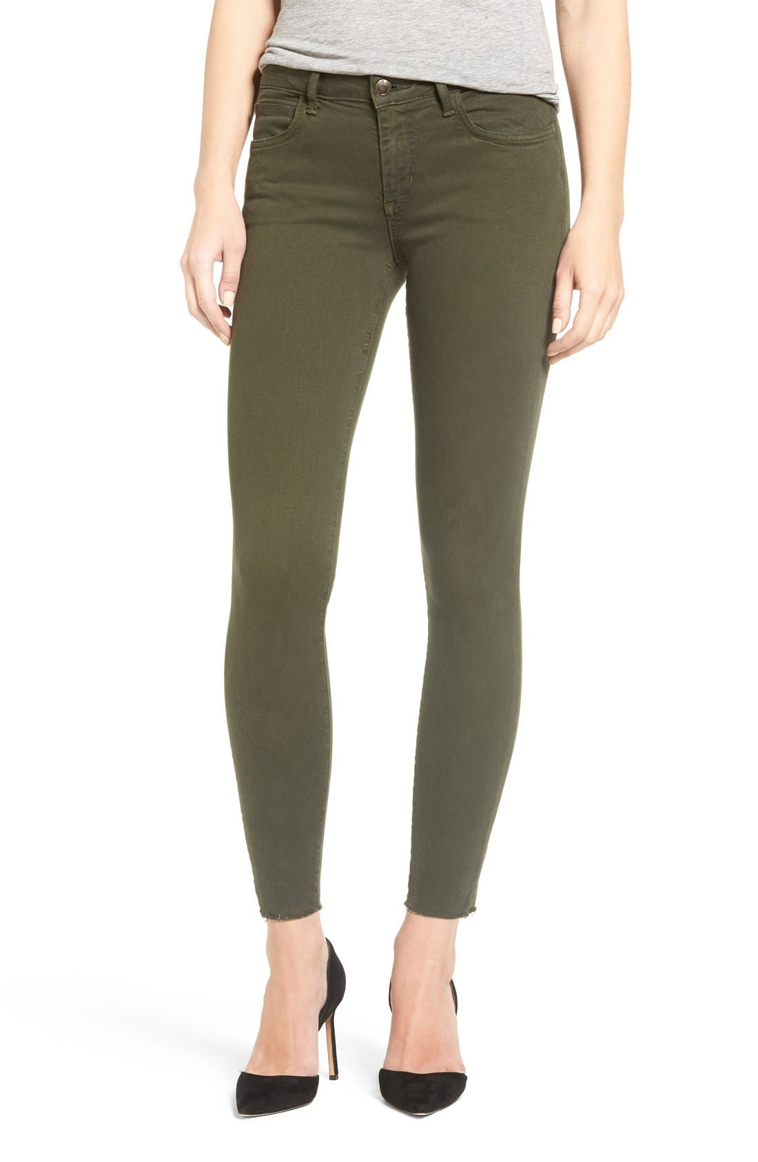 Icon Ankle Skinny Jeans,                             Alternate thumbnail 5, color,                             Military Green