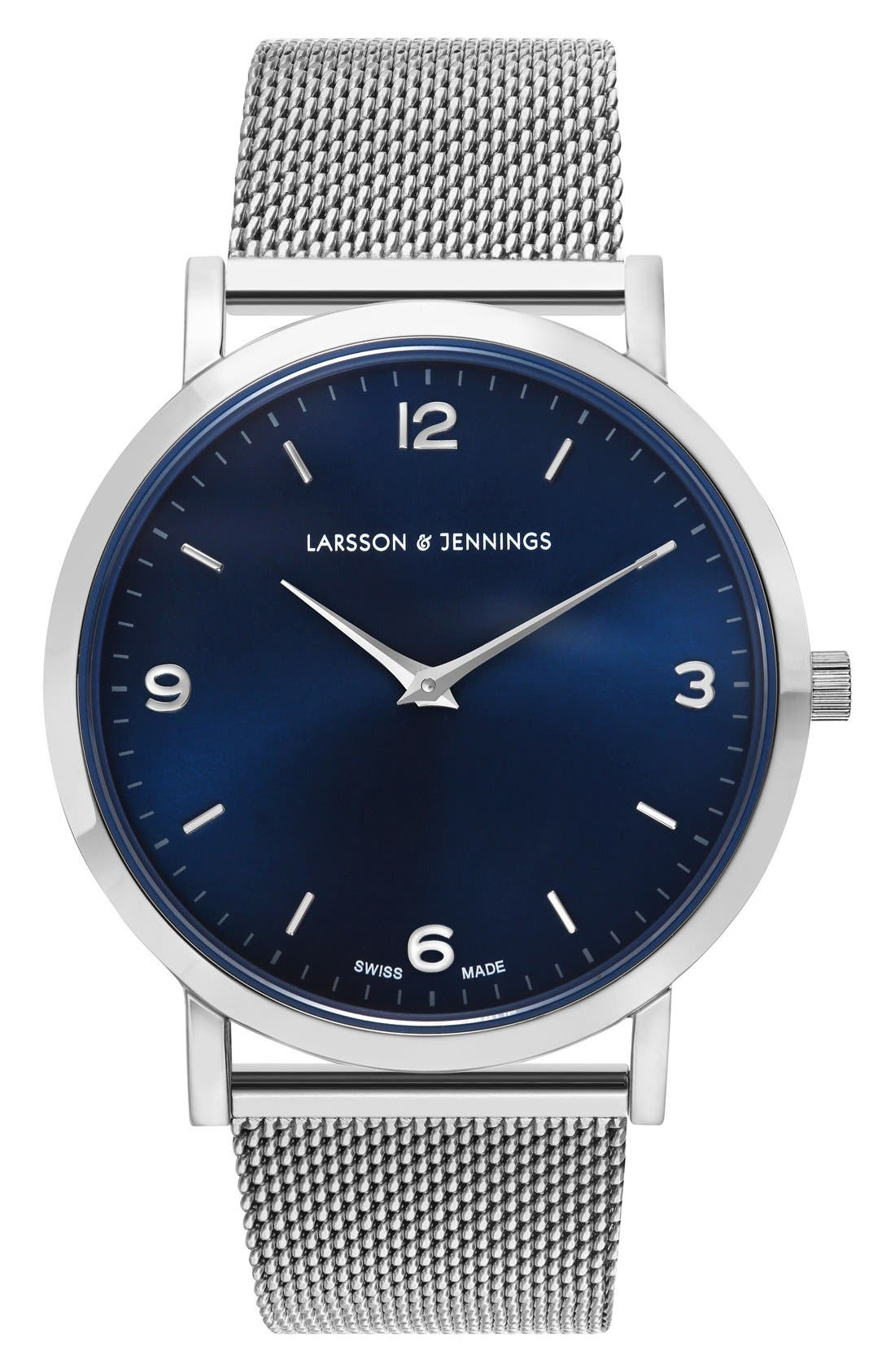 LARSSON & JENNINGS Lugano Mesh Strap Watch, 38mm