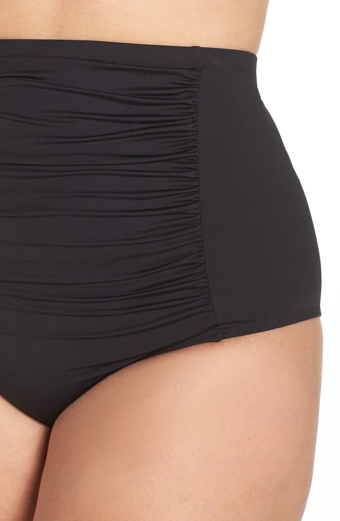 Alternate Image 4  - Becca Etc. Color Code High Waist Bikini Bottoms (Plus Size)