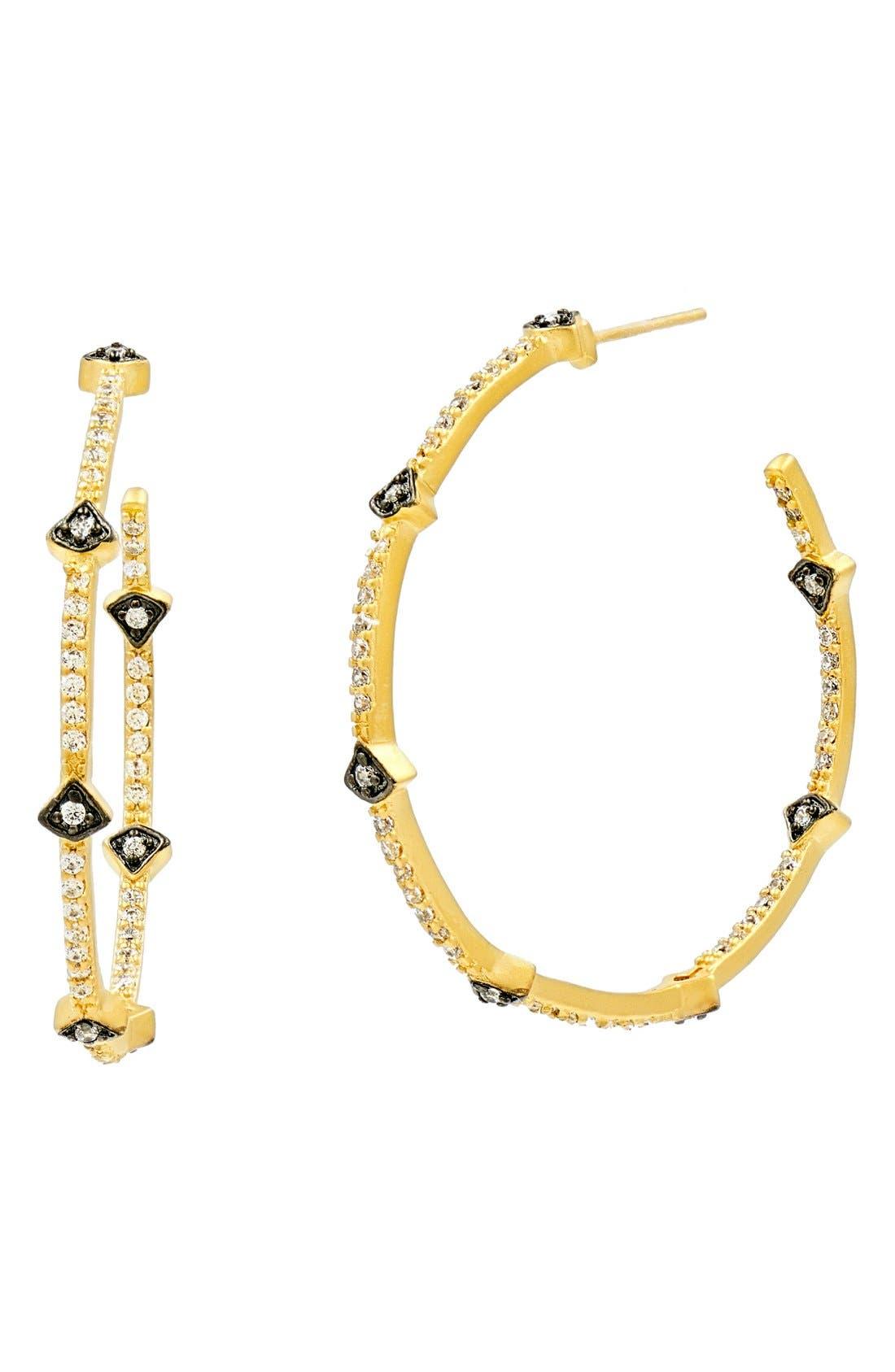 Alternate Image 3  - FREIDA ROTHMAN 'Metropolitan' Inside Out Hoop Earrings