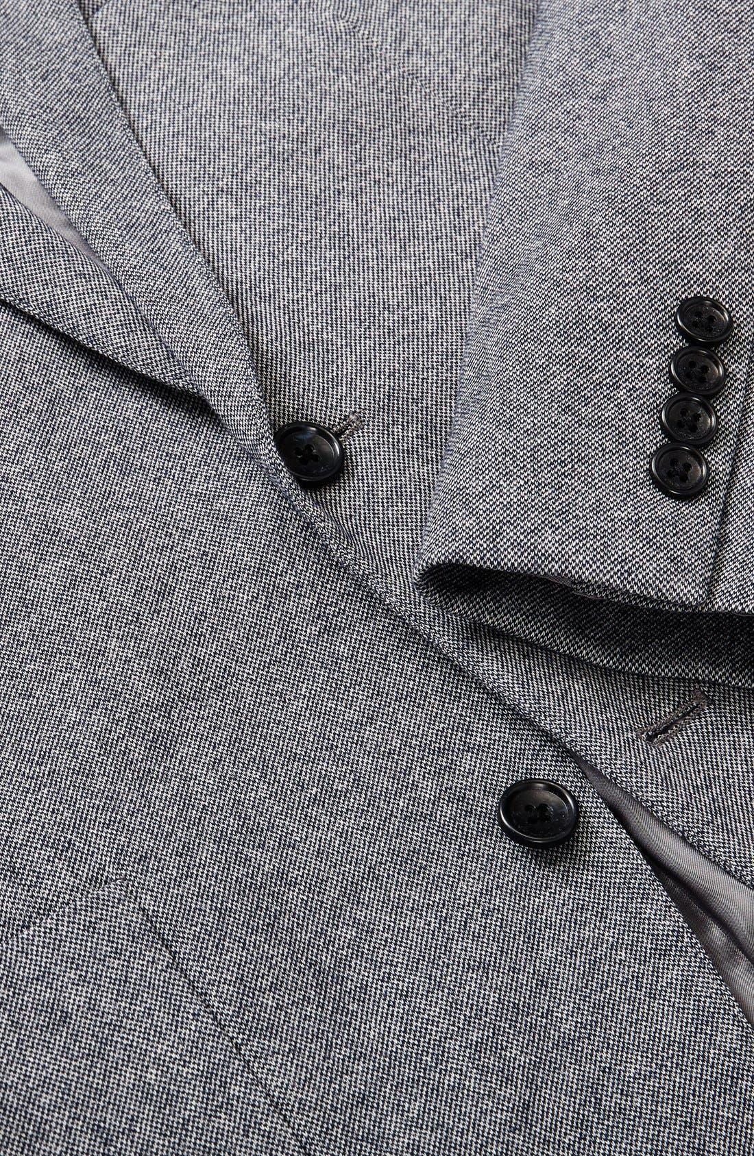 Jetsetter Trim Fit Knit Cotton Blazer,                             Alternate thumbnail 3, color,                             Light Grey