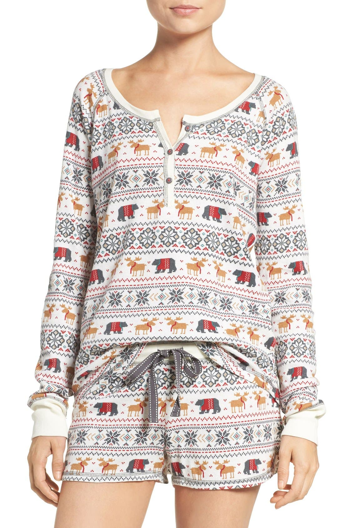 Alternate Image 1 Selected - PJ Salvage Thermal Pajamas