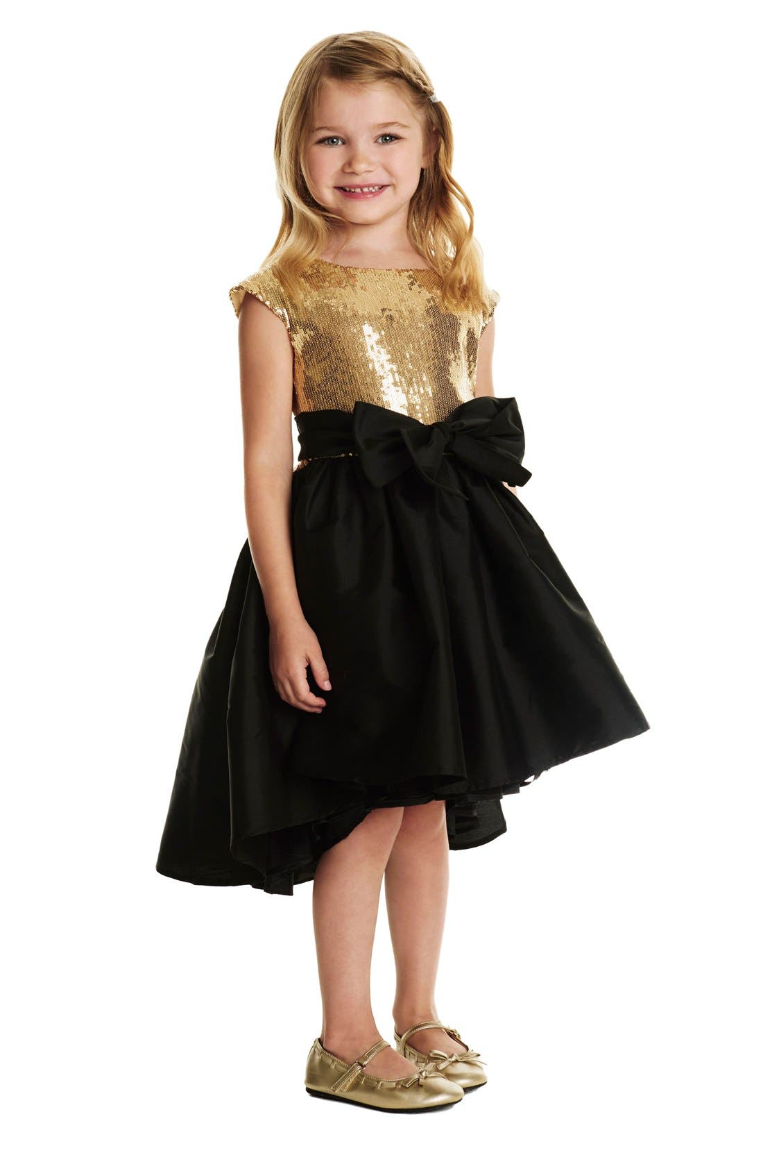 Alternate Image 3  - Pippa & Julie Sequin High/Low Hem Dress (Big Girls)
