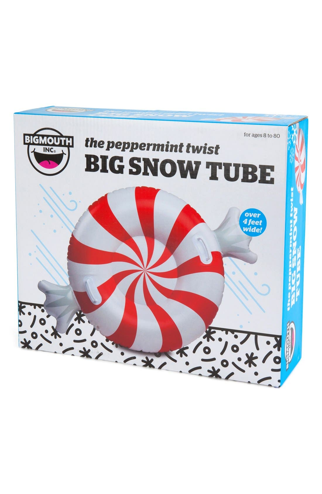 Alternate Image 3  - BigMouth Inc. Giant Peppermint Twist Snow Tube