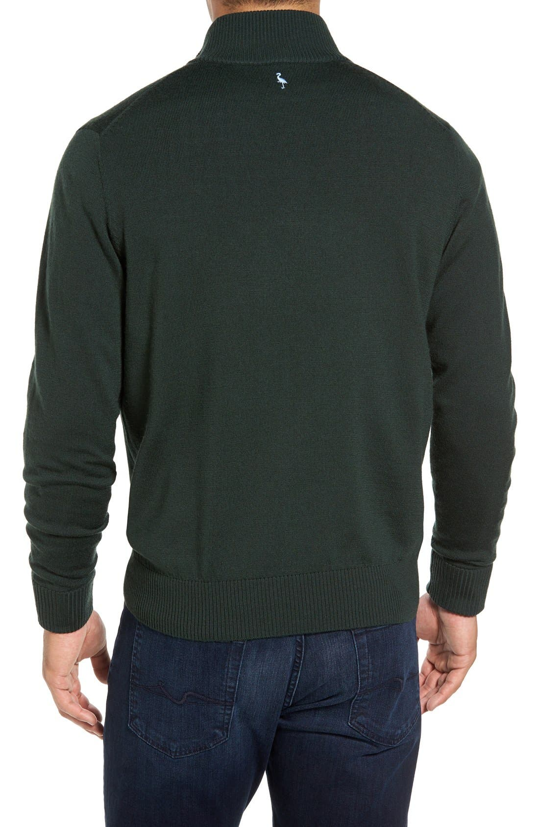 Alternate Image 2  - TailorByrd S.Cascade Quarter Zip Wool Sweater
