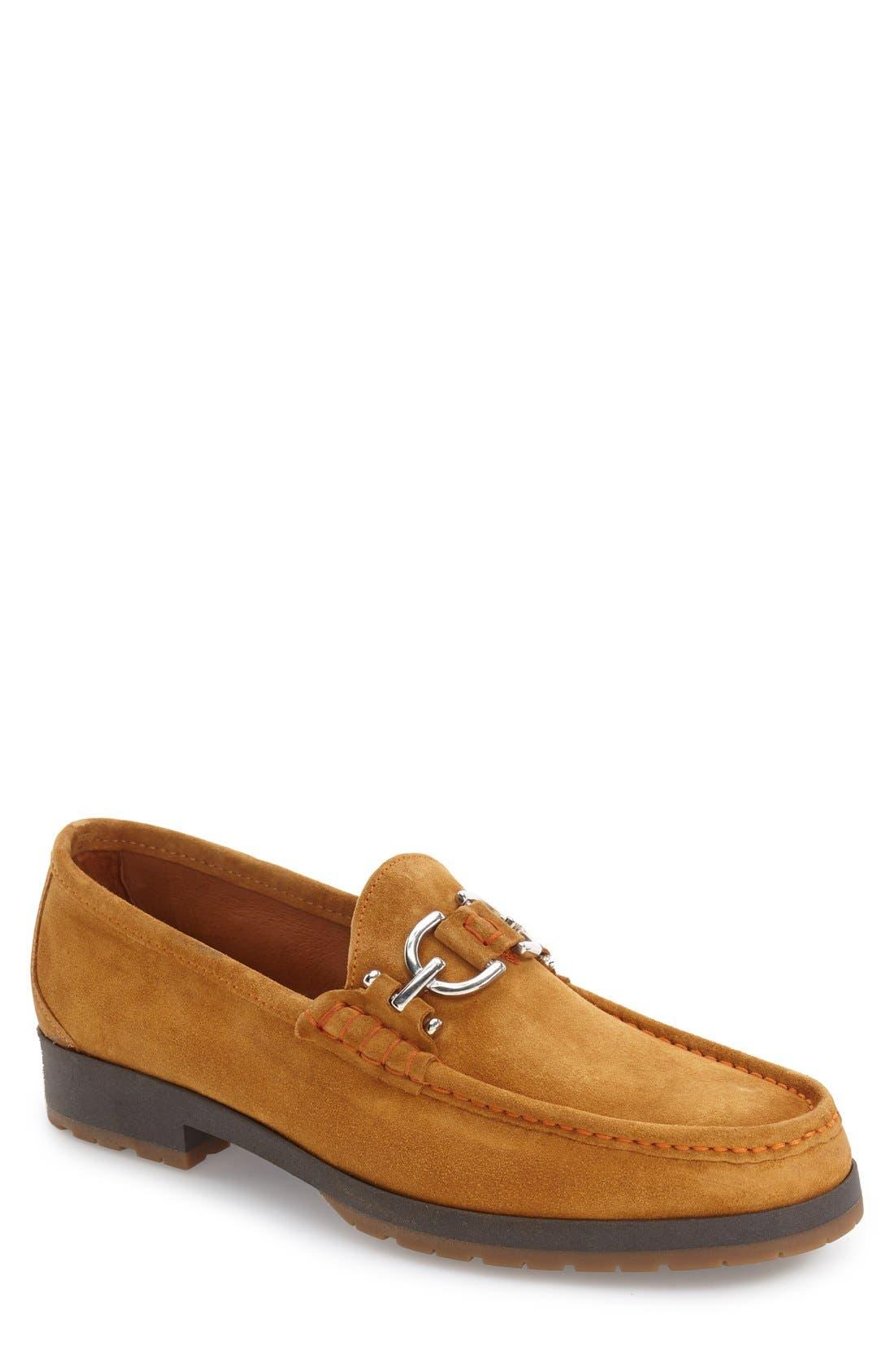 Lelio Bit Loafer,                             Main thumbnail 1, color,                             Saddle Suede