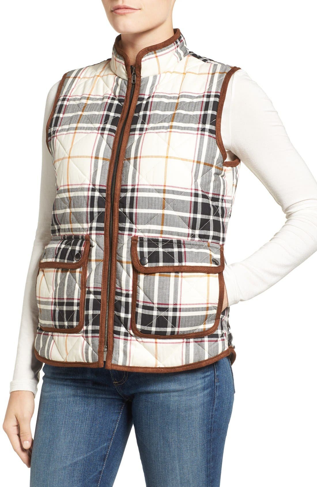 Alternate Image 4  - Foxcroft Plaid Quilt Vest