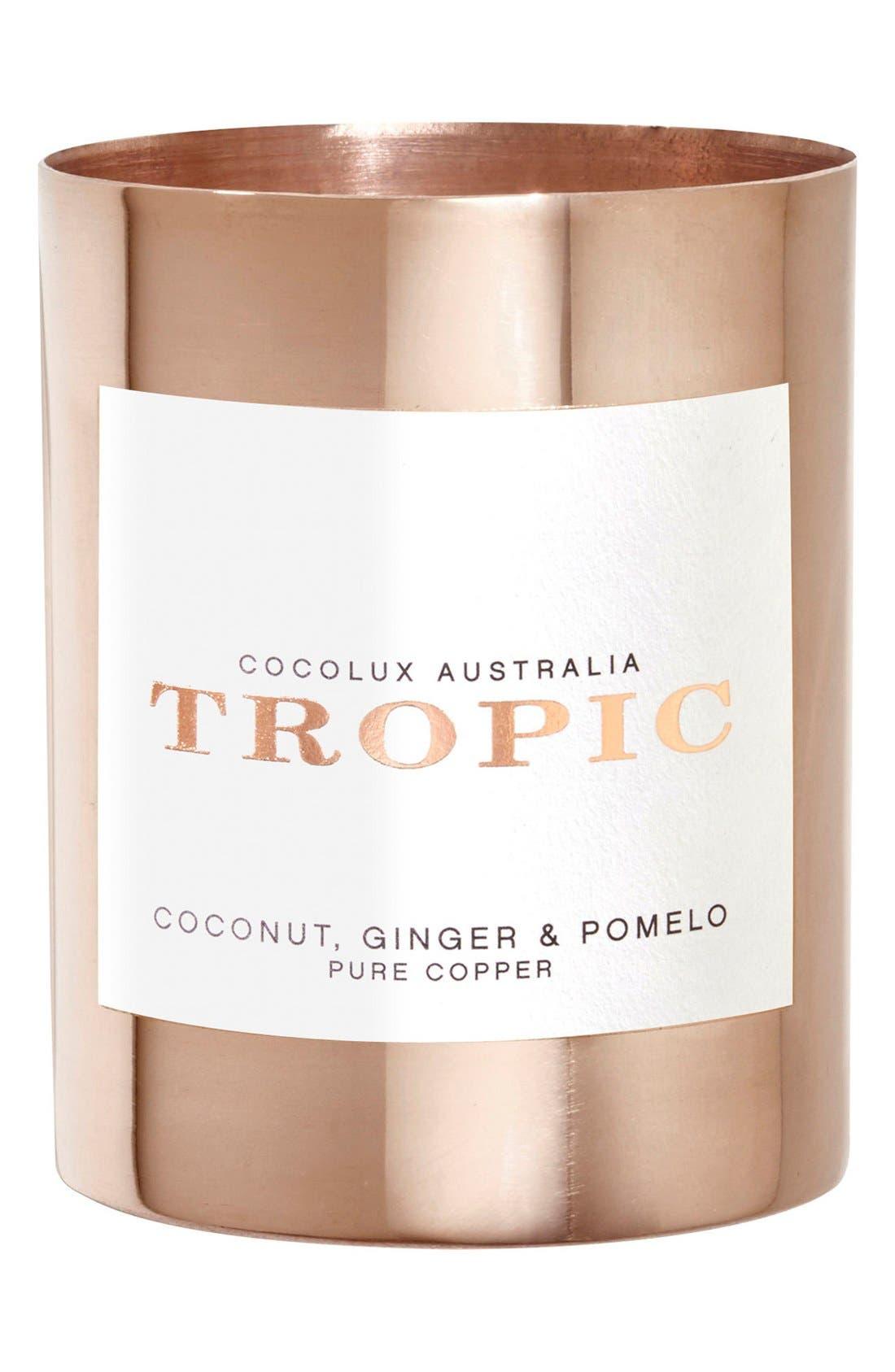 Main Image - Cocolux Australia Coconut, Ginger & Pomelo Small Copper Candle