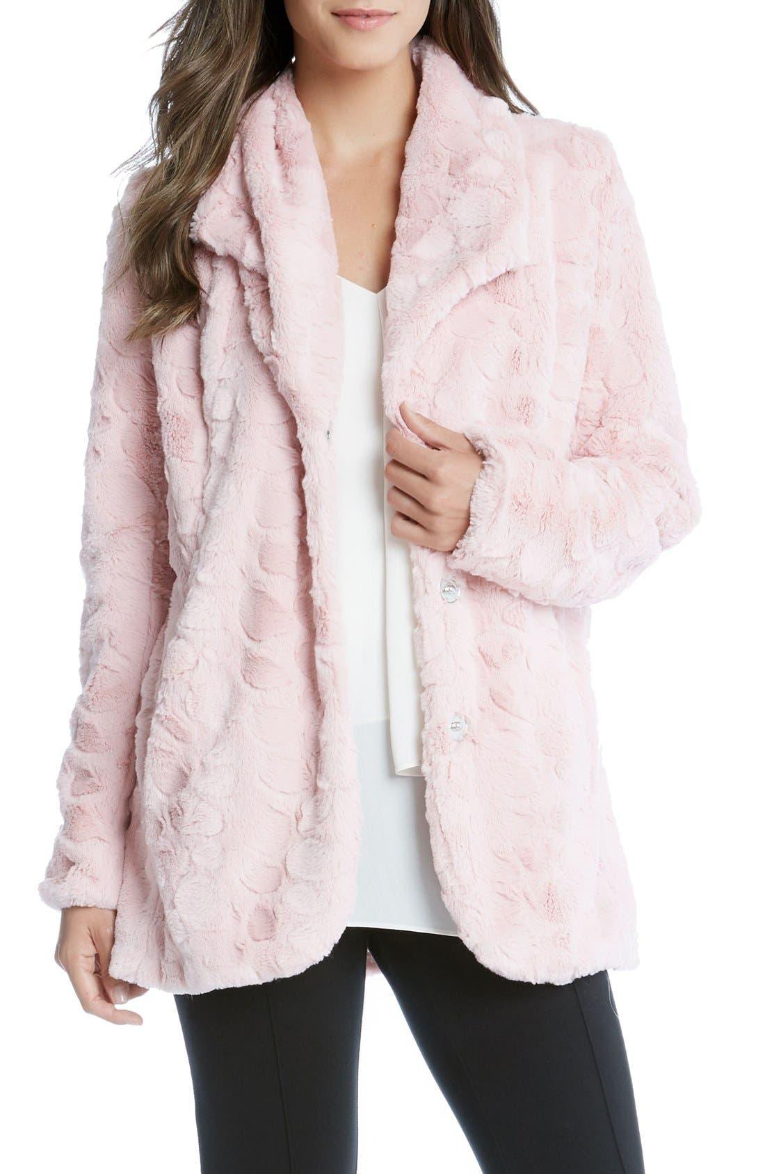 Main Image - Karen Kane Faux Fur Coat