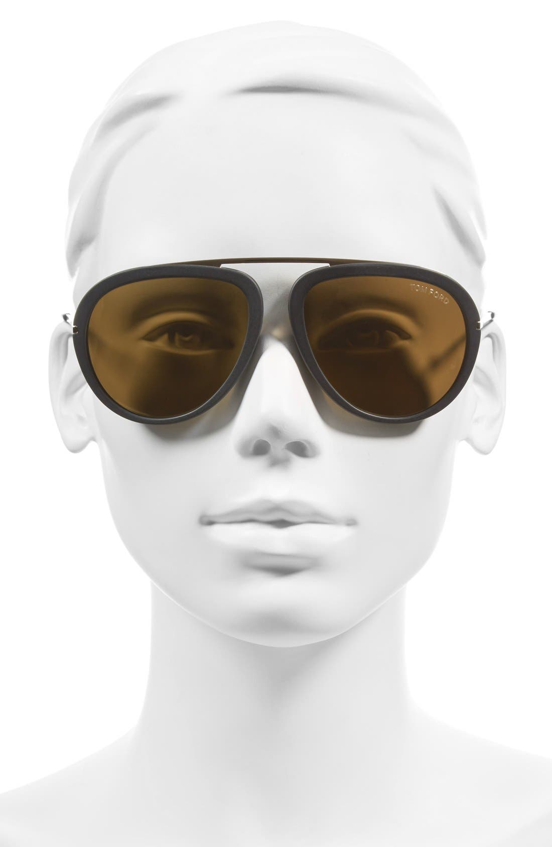 'Stacy' 57mm Sunglasses,                             Alternate thumbnail 2, color,                             Black/ Super Bronze