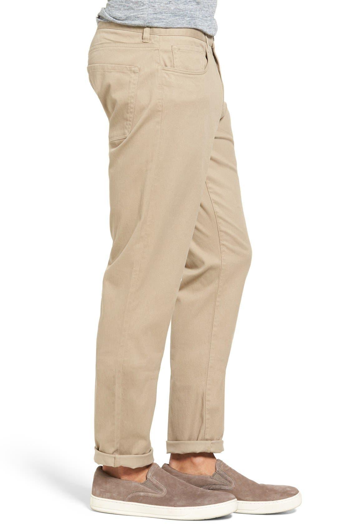 Soho Slim Fit Five-Pocket Pants,                             Alternate thumbnail 2, color,                             Khaki