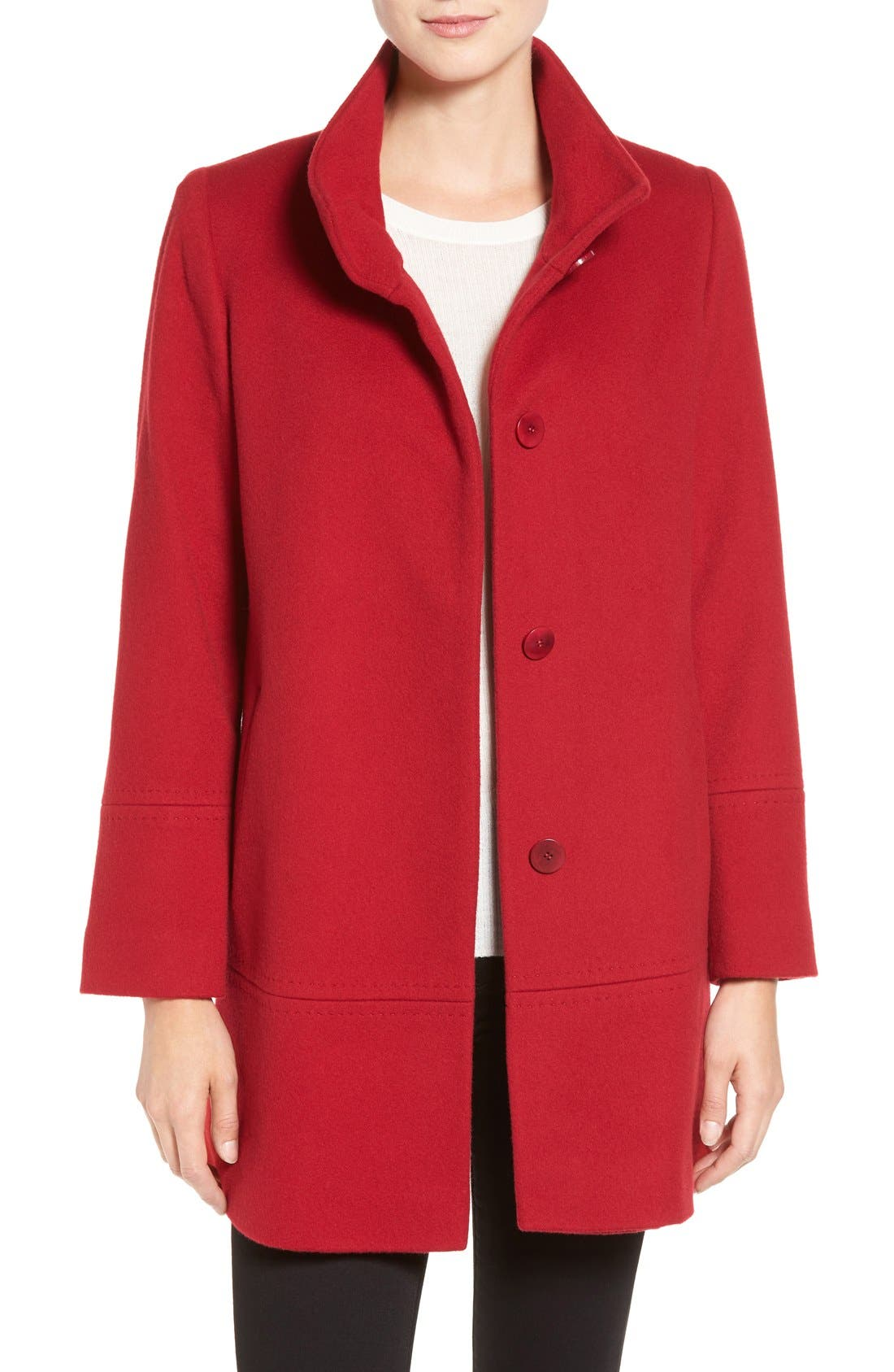 Alternate Image 1 Selected - Fleurette Loro Piana Wool Car Coat (Regular & Petite) (Nordstrom Exclusive)