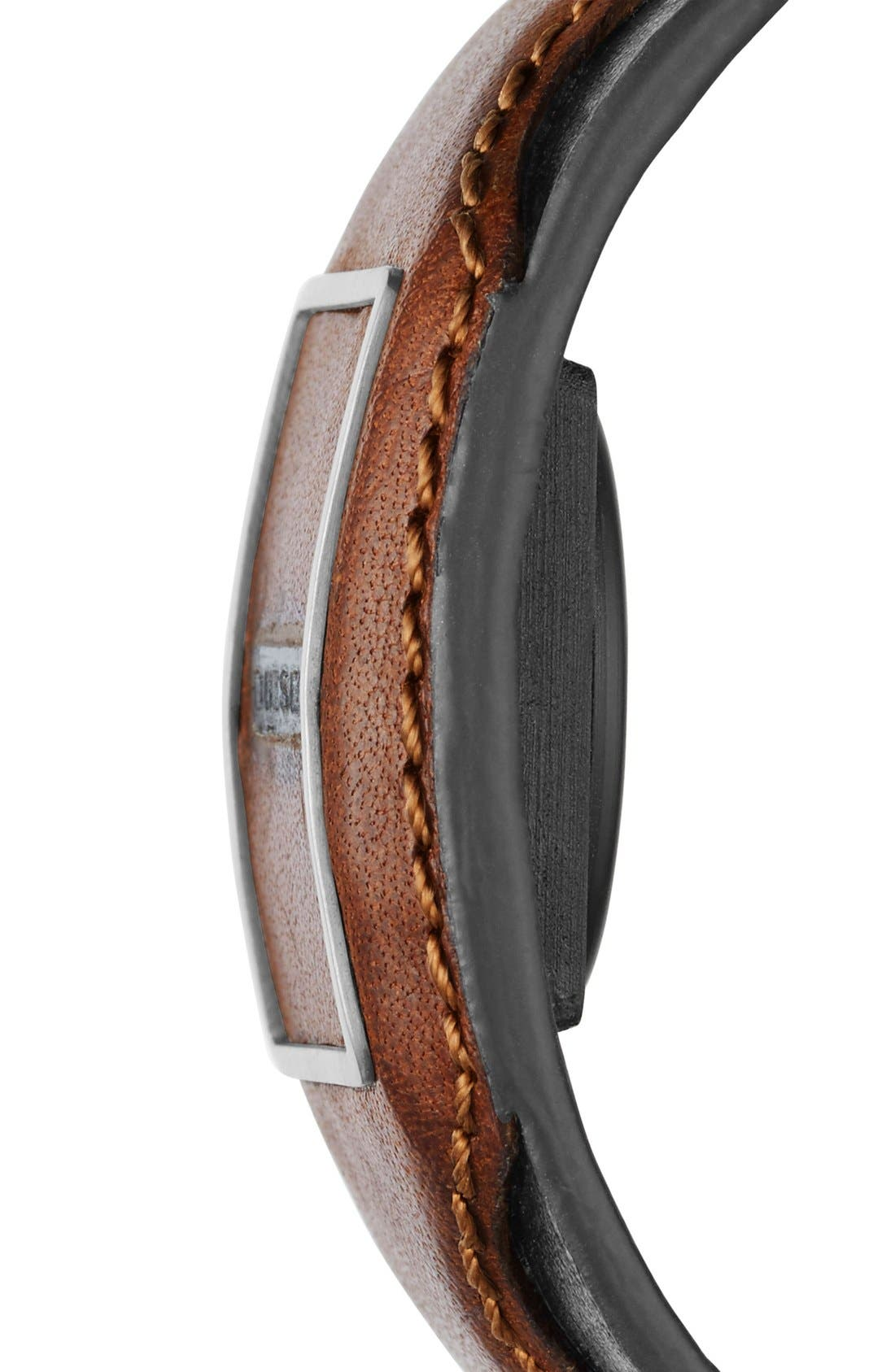 Leather Cuff Activity Tracker,                             Alternate thumbnail 3, color,                             Brown