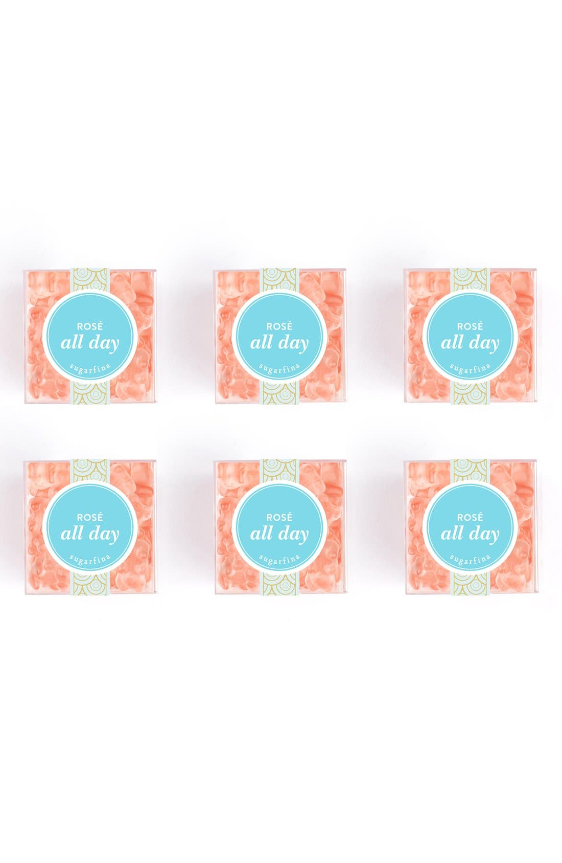 Set of 6 Rosé All Day Candy Cubes,                         Main,                         color, Rose