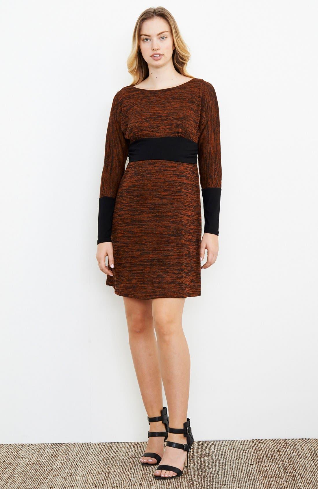 Empire WaistNursing Dress,                         Main,                         color, Rust