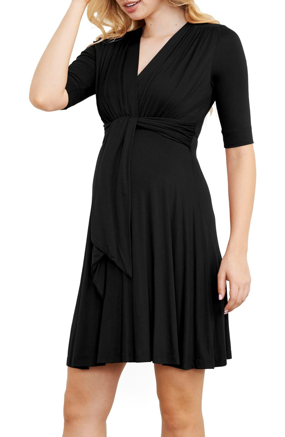 Main Image - Maternal America Maternity Tie Front Dress