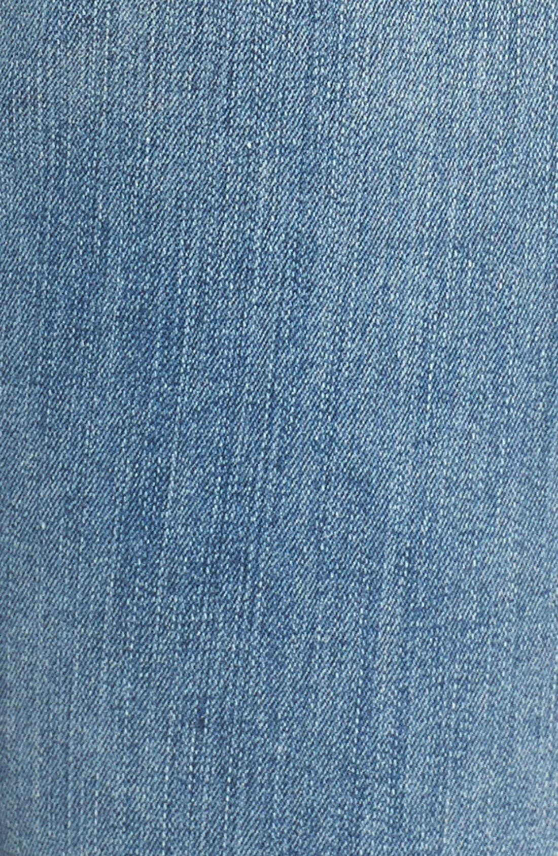 Alternate Image 5  - Good American Good Cuts High Rise Boyfriend Jeans (Blue 012) (Extended Sizes)