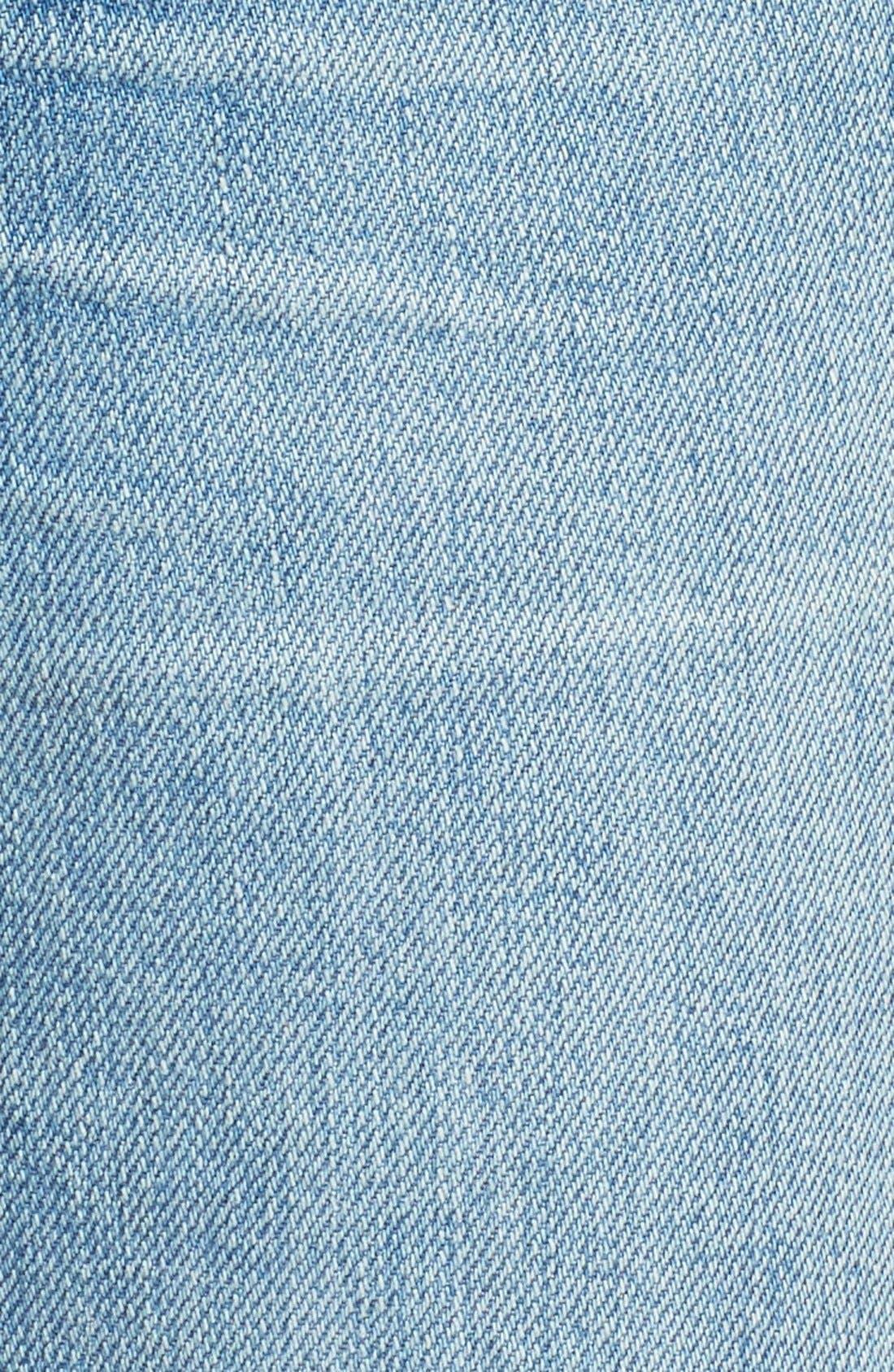 Perfect Vintage Ripped High Waist Boyfriend Jeans,                             Alternate thumbnail 5, color,                             Chet Wash