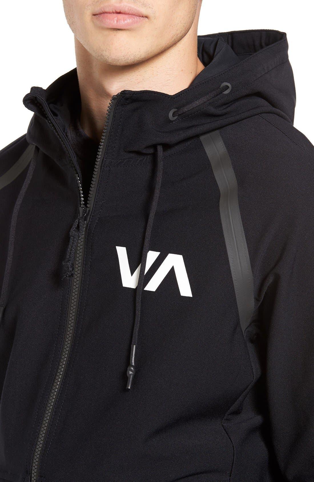 Alternate Image 4  - RVCA Sport Grappler Hooded Jacket