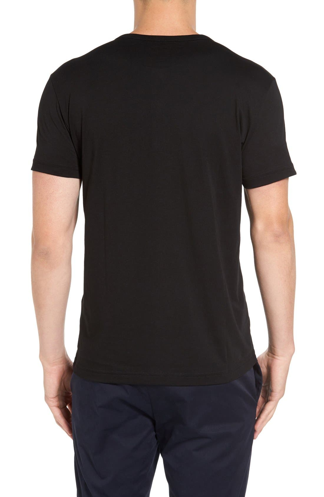 Henley T-Shirt,                             Alternate thumbnail 2, color,                             Black