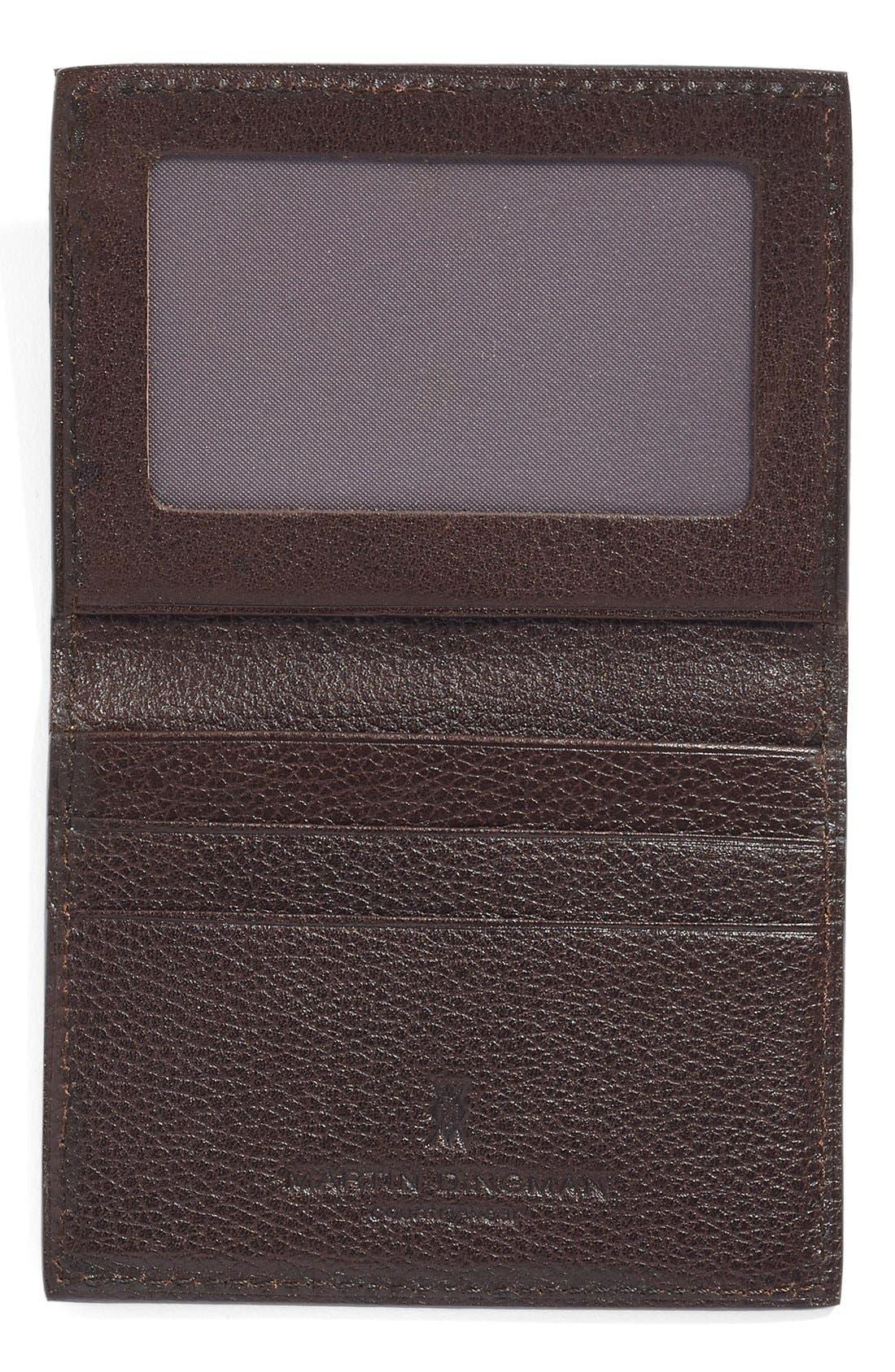 Water Buffalo Leather Card Case,                             Alternate thumbnail 2, color,                             Burnt Cedar