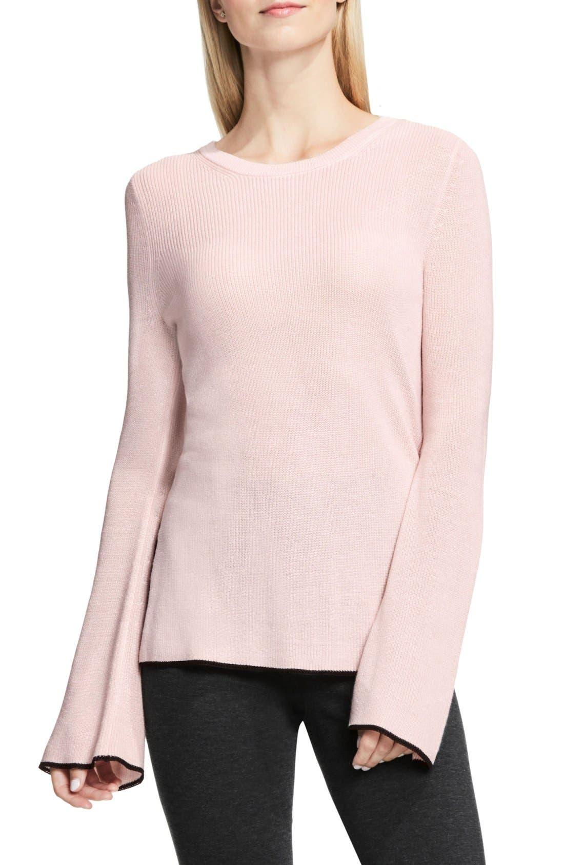 Alternate Image 1 Selected - Vince Camuto Bell Sleeve Sweater (Regular & Petite)