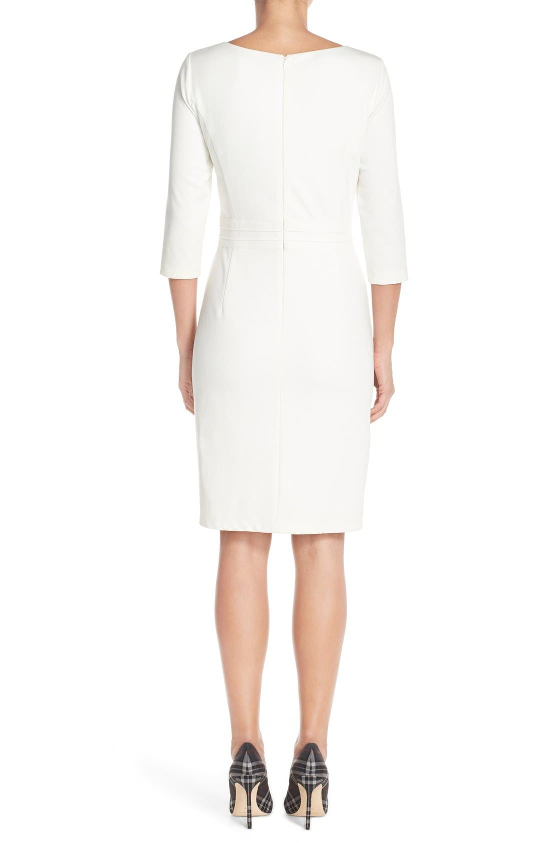 Alternate Image 2  - Ellen Tracy Seamed PonteSheath Dress (Regular & Petite)