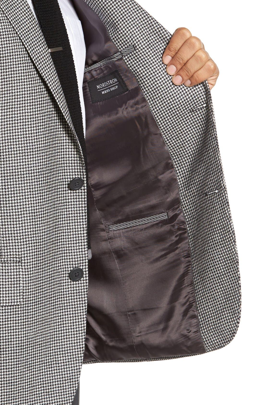 Alternate Image 4  - Nordstrom Men's Shop Classic Fit Houndstooth Wool & Cashmere Sport Coat
