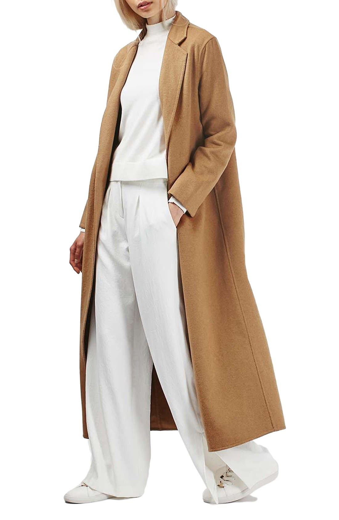Main Image - Topshop Butted Seam Duster Coat