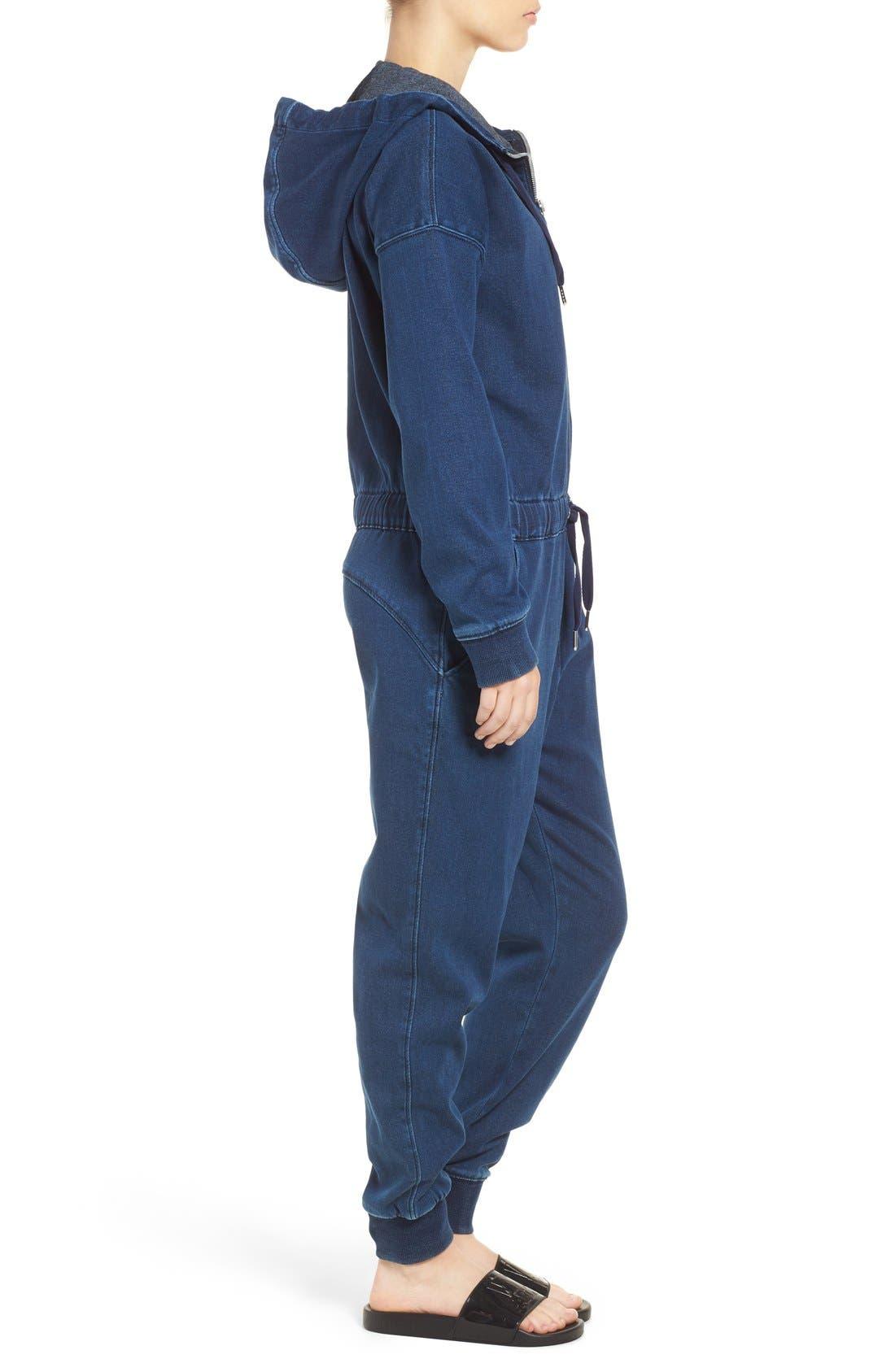 Alternate Image 4  - IVY PARK® Logo Denim Jumpsuit