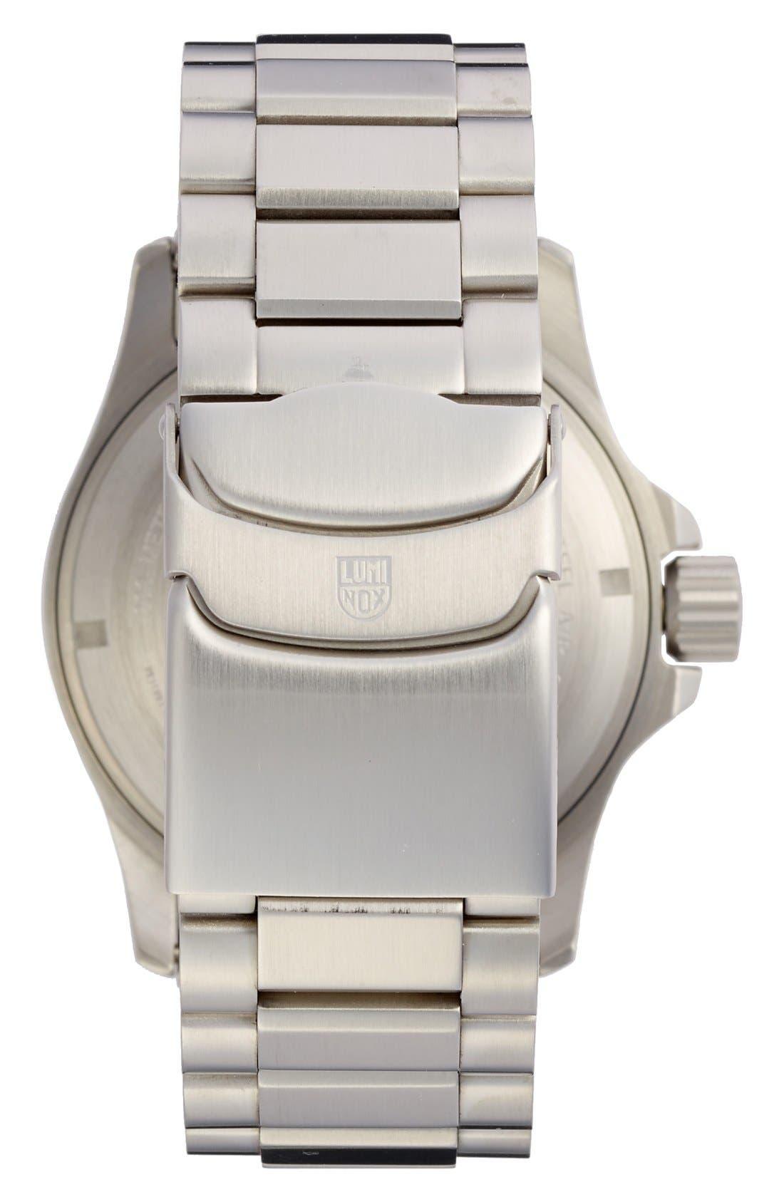 Atacama Field Bracelet Watch, 45mm,                             Alternate thumbnail 2, color,                             Dark Blue/ Tan