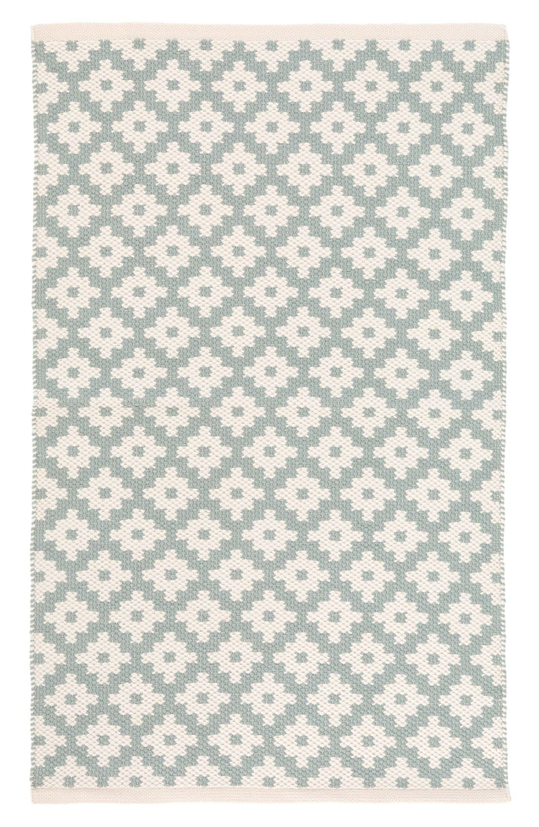 'Samode' Indoor/Outdoor Rug,                             Main thumbnail 1, color,                             Light Blue/ Ivory