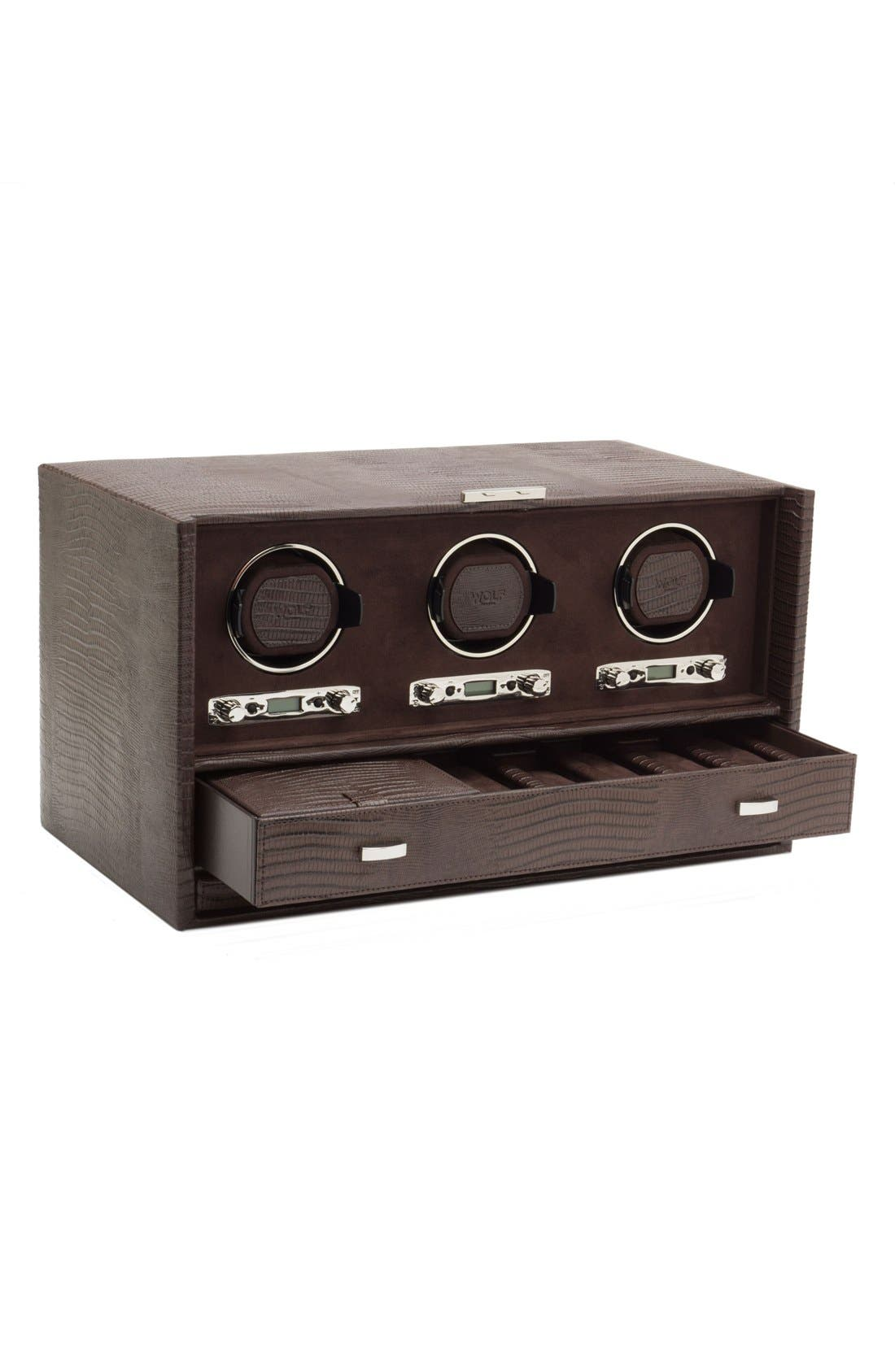 Alternate Image 4  - Wolf Blake Triple Watch Winder & Case