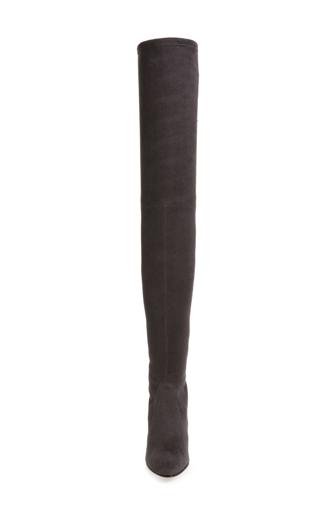 'All Legs' Thigh High Boot,                             Alternate thumbnail 3, color,                             Grey Ultrastretch