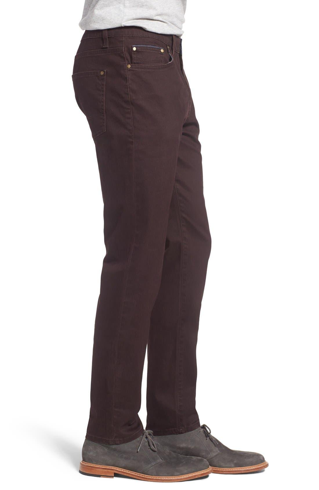 Print Slim Fit Trouser Jeans,                             Alternate thumbnail 3, color,                             Dark Red