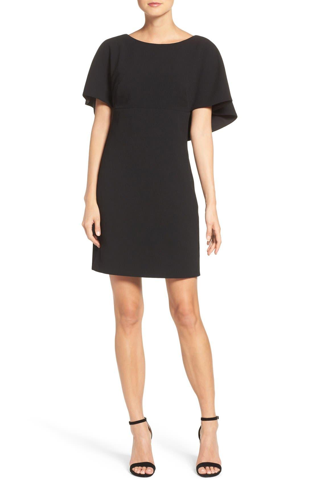 Alternate Image 4  - Eliza J Cape A-Line Dress