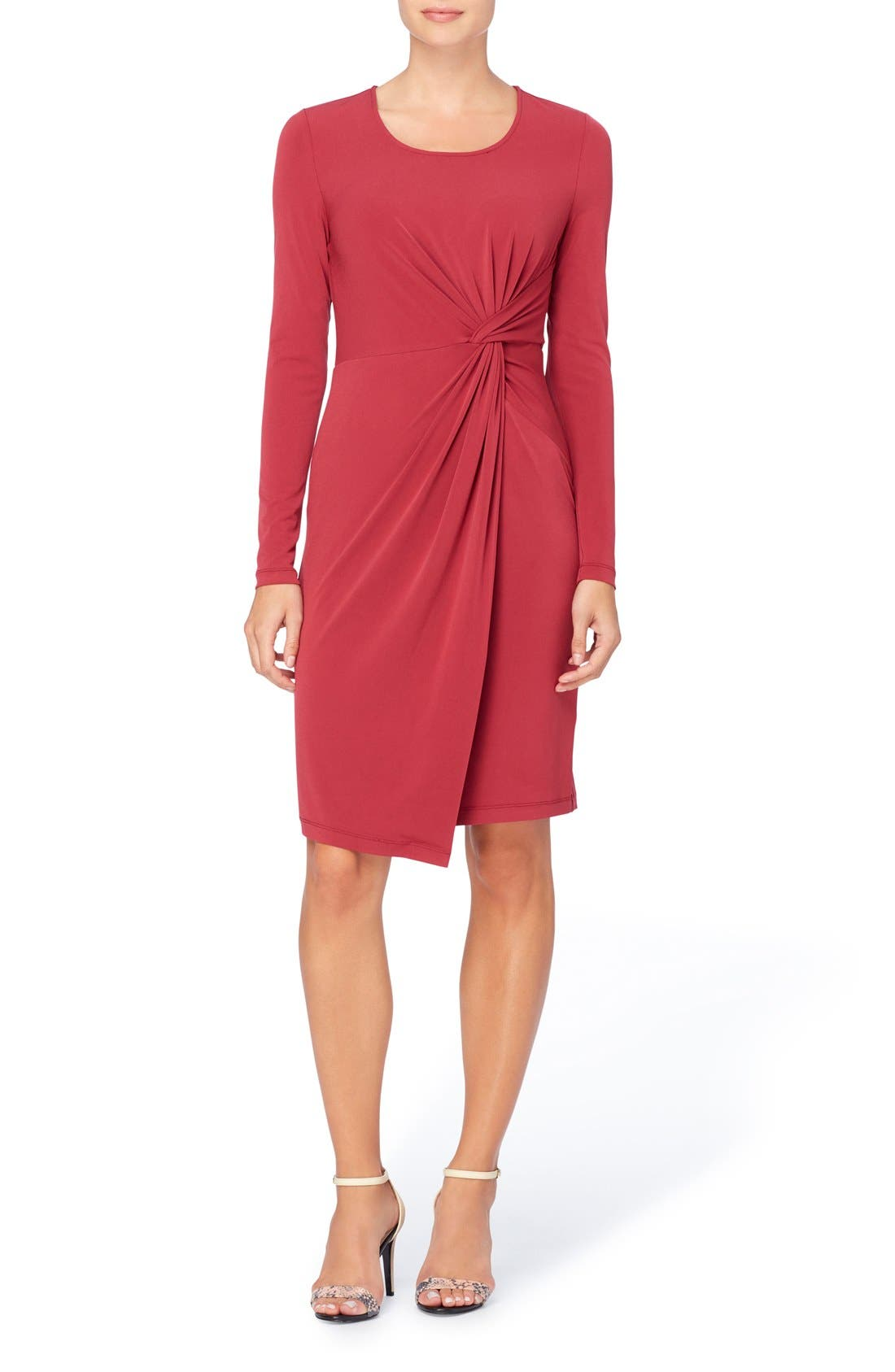 CATHERINE CATHERINE MALANDRINO Adele Twist Front Sheath Dress