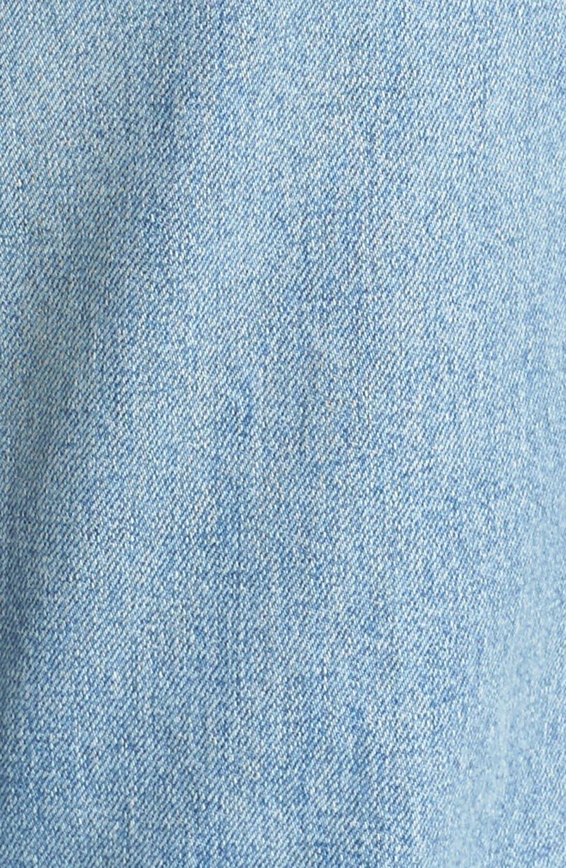 Originals High Waist Straight Skinny Stretch Jeans,                             Alternate thumbnail 5, color,                             Light