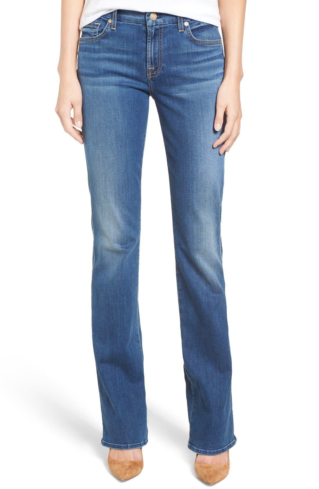 Main Image - 7 For All Mankind® 'b(air) - Kimmie' Straight Leg Jeans (Duchess)