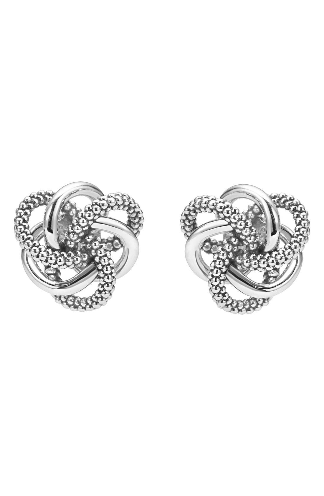 Alternate Image 2  - LAGOS 'Love Knot' Sterling Silver Stud Earrings
