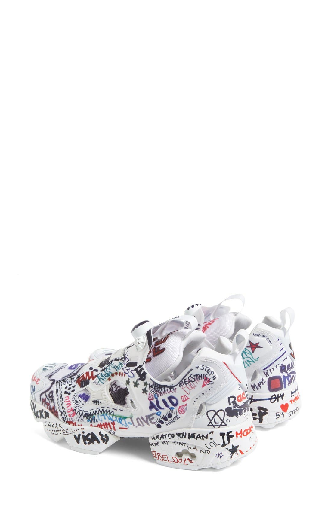 Alternate Image 2  - Vetements x Reebok Graffiti Instapump Fury Sneaker (Women)