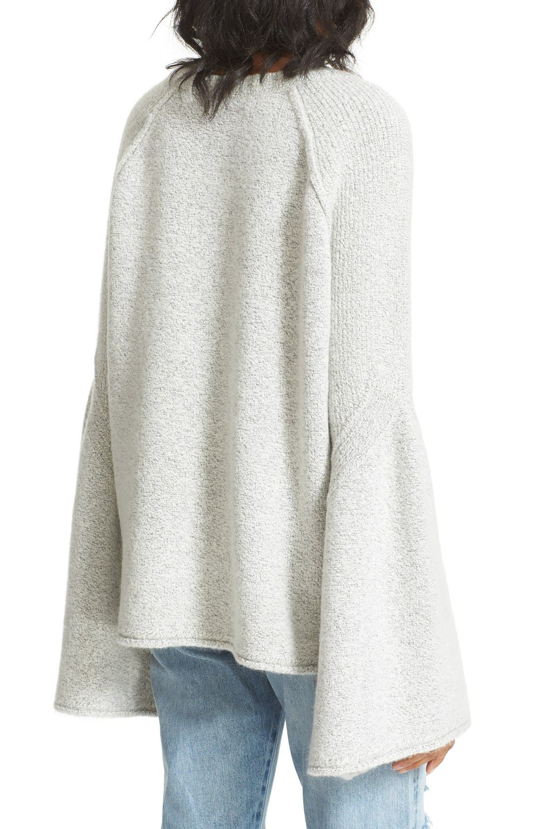 Lovely Lines Bell Sleeve Sweater,                             Alternate thumbnail 2, color,                             Ivory